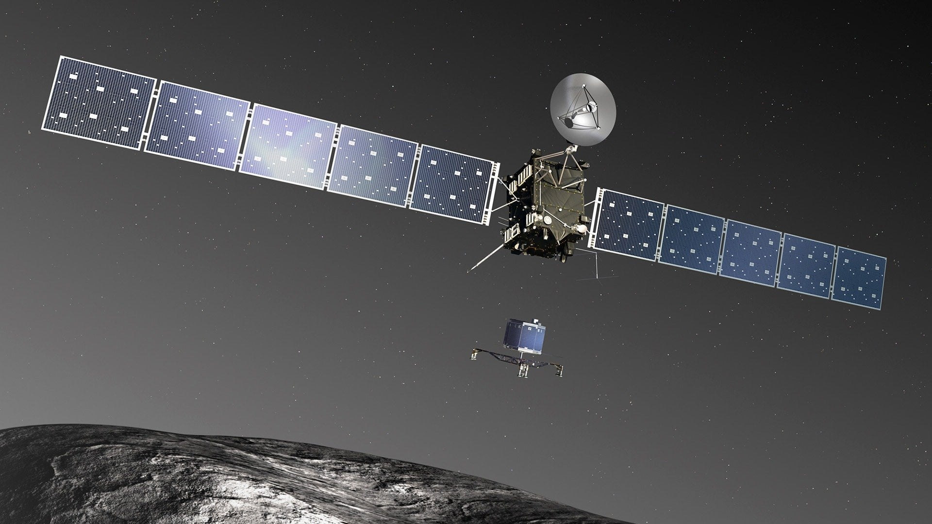 Landing on a Comet: Rosetta Mission