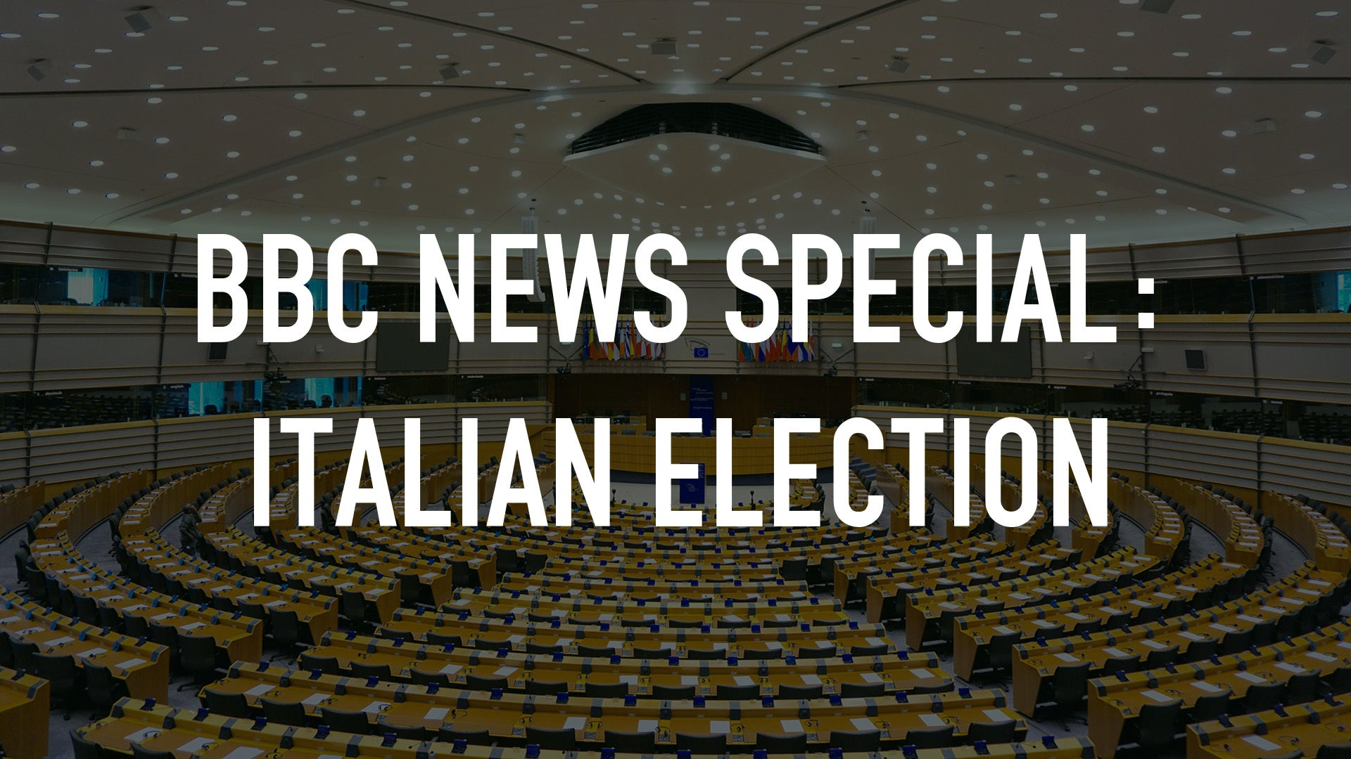 BBC News Special: Italian Election
