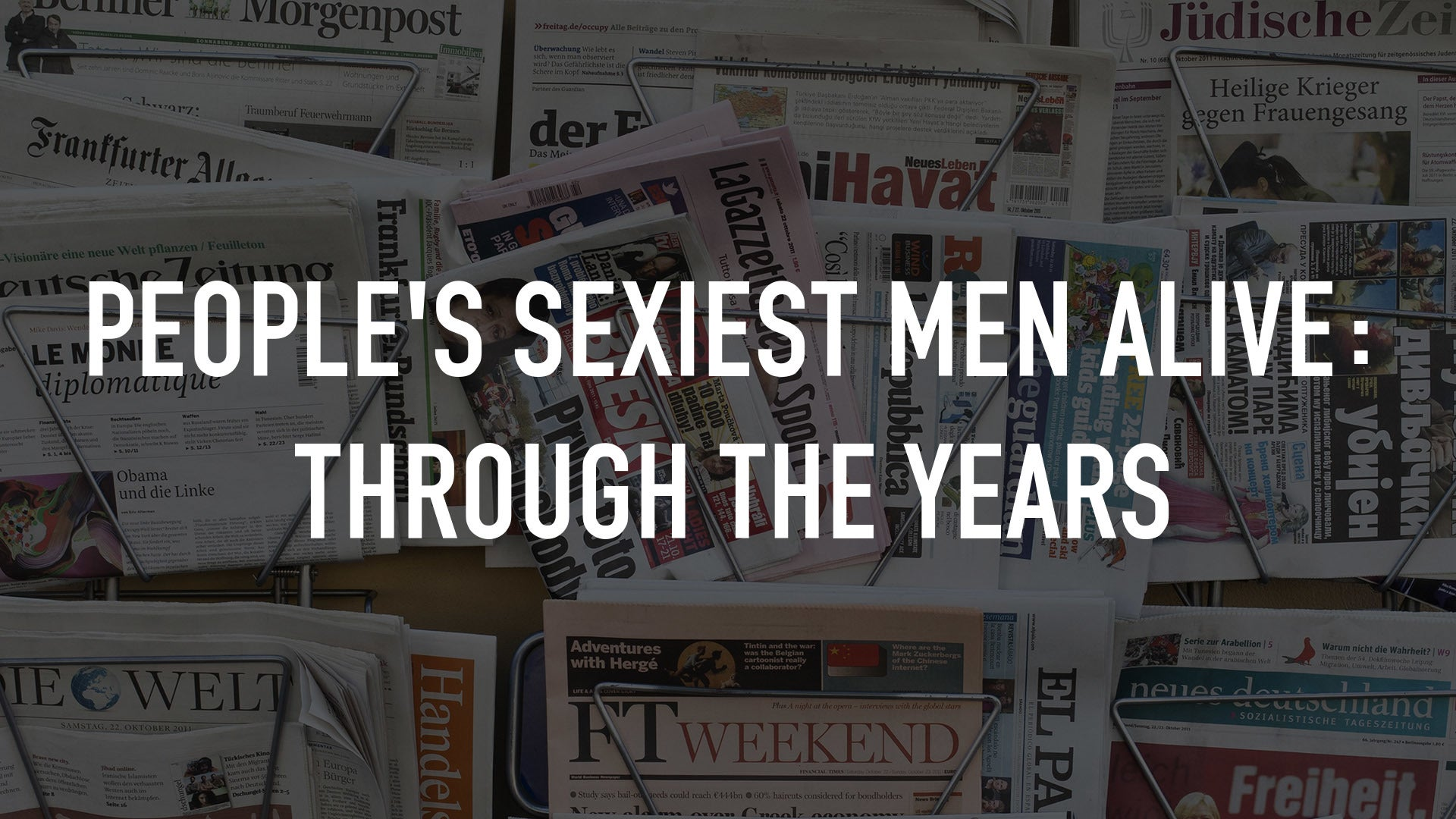 People's Sexiest Men Alive: Through the Years