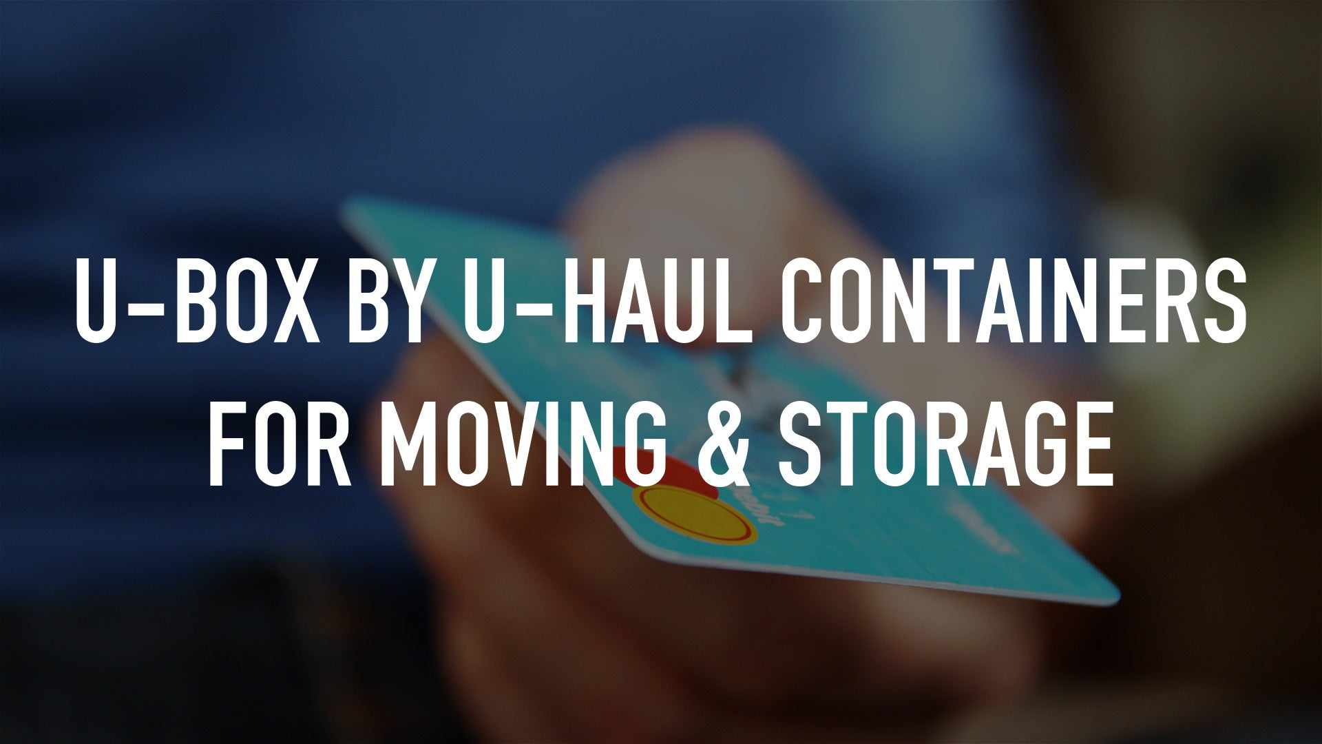 U-Box by U-Haul Containers for Moving & Storage