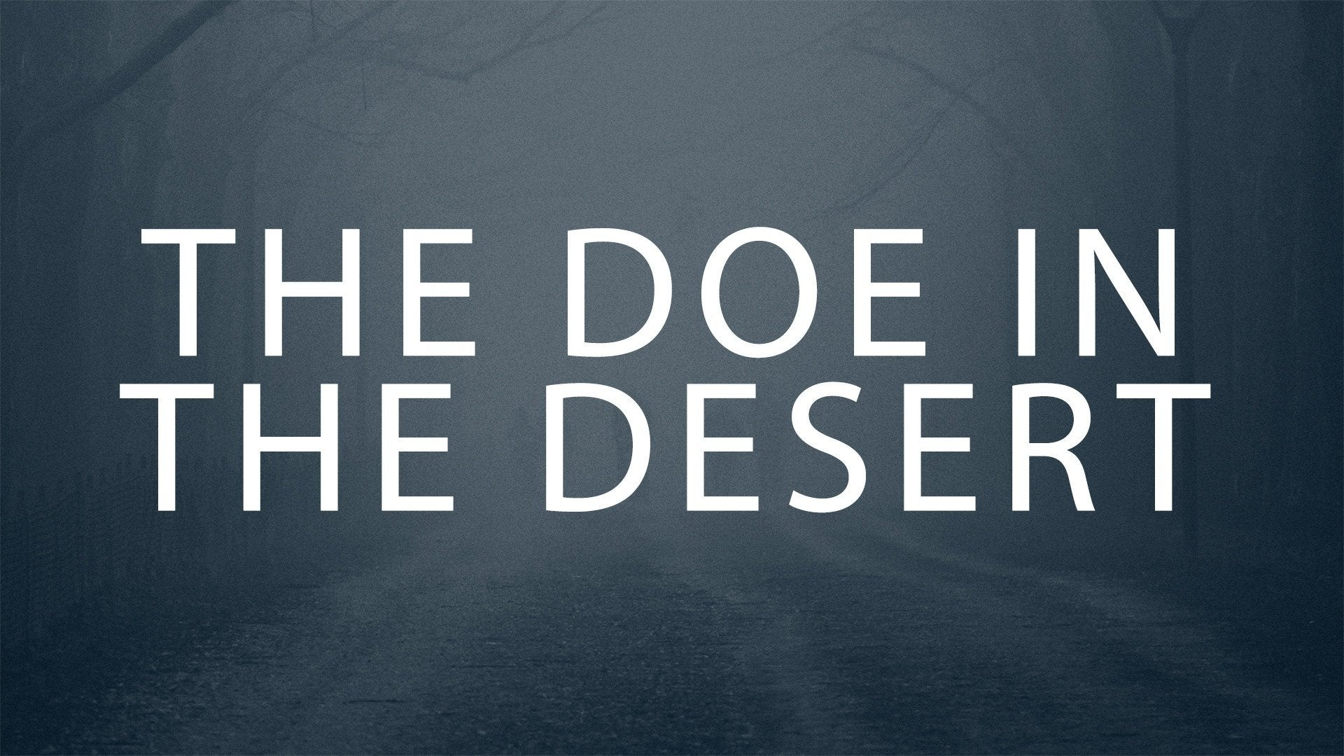The Doe in the Desert